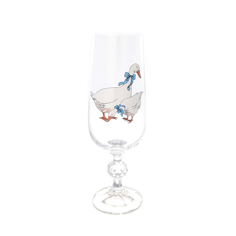 Клаудия набор фужеров для шампанского AS Crystal Гуси 180 мл (6 шт)