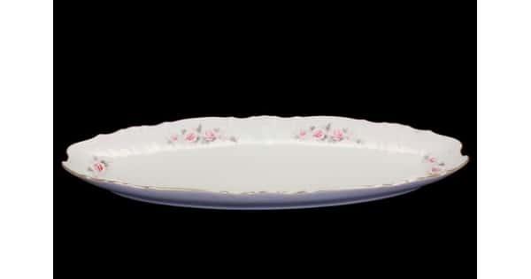 Блюдо для рыбы Bernadotte Серая роза платина 65 см