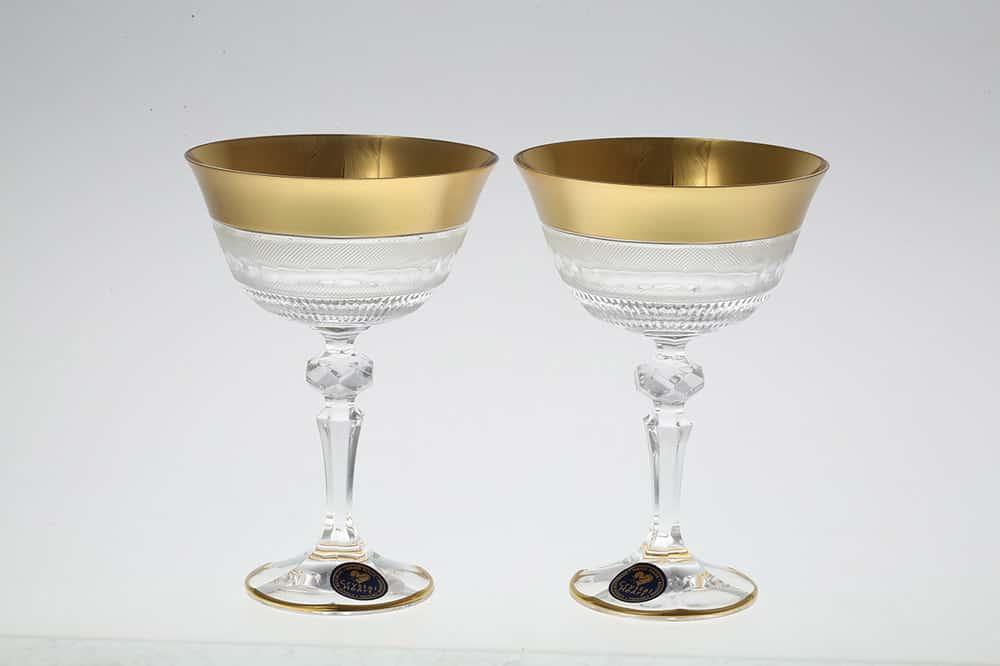 Набор бокалов для вина 180 мл Crystal Heart 35032