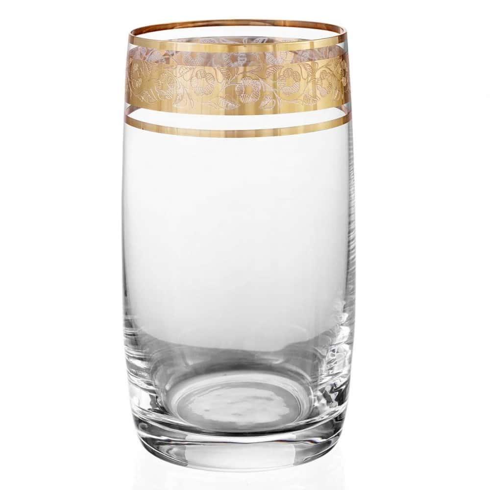 Набор стаканов для воды Bohemia Клаудия Идеал Золото 380мл (6 шт)