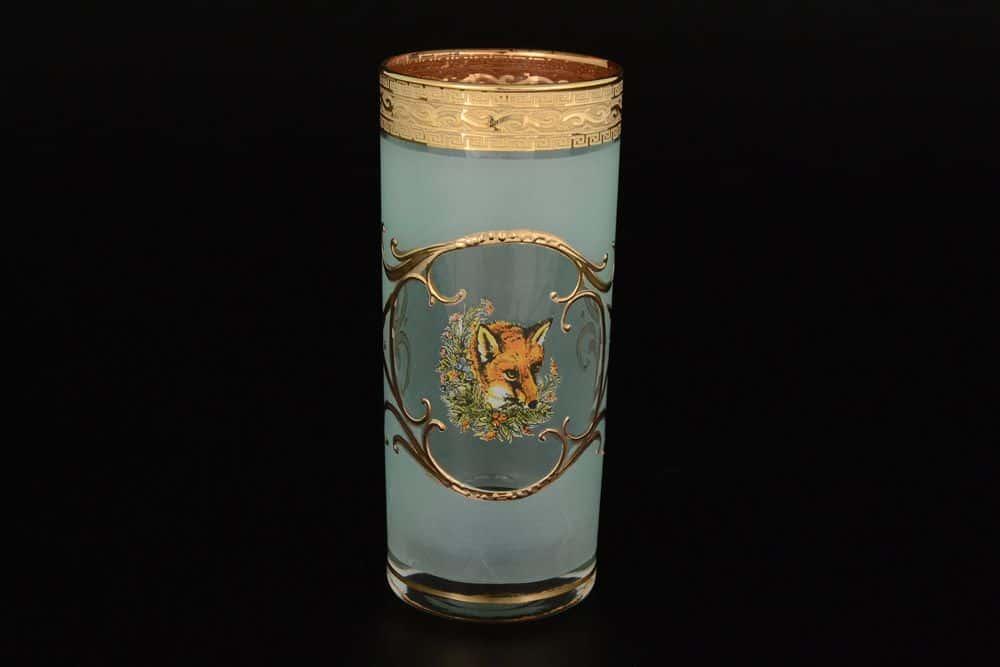 Набор стаканов для воды Версаче Охота зеленая J-M Bohemia