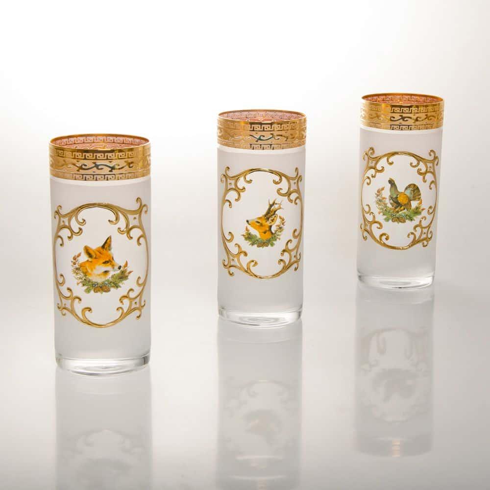 Набор стаканов для воды Версаче Охота белая J-M Bohemia