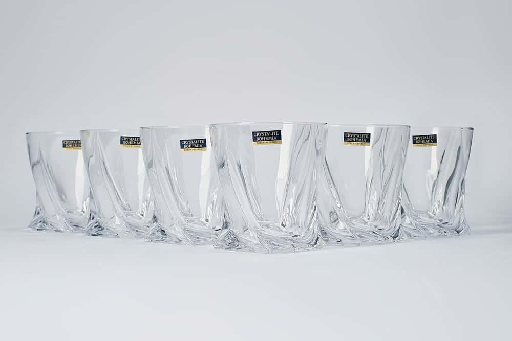 Набор стаканов для виски 340 мл QUADRO Crystalite Bohemia