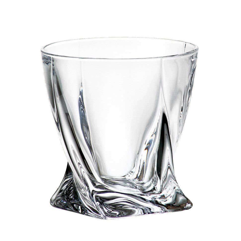 Стакан для виски Crystalite Bohemia Quadro 340мл (1 шт)