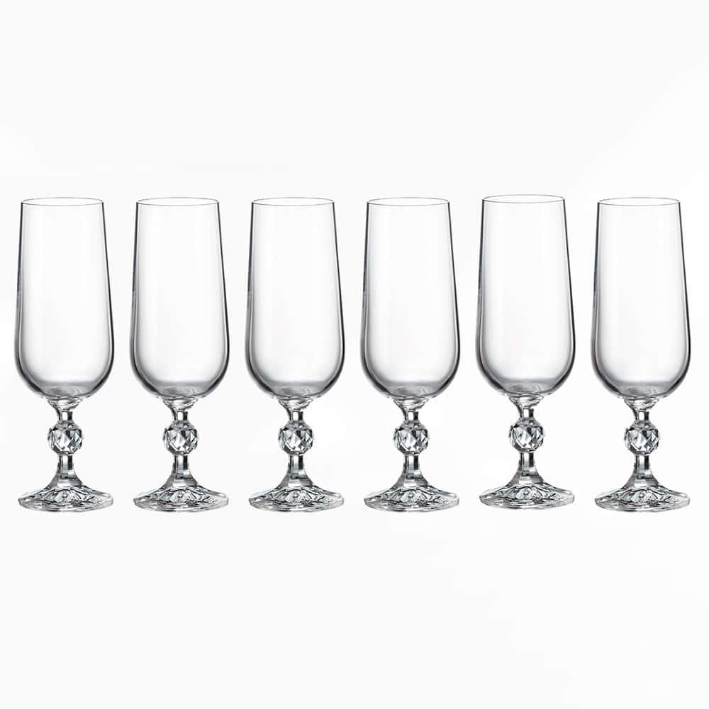 Набор фужеров для шампанского 180 мл STERNA KLAUDIE Crystalite Bohemia