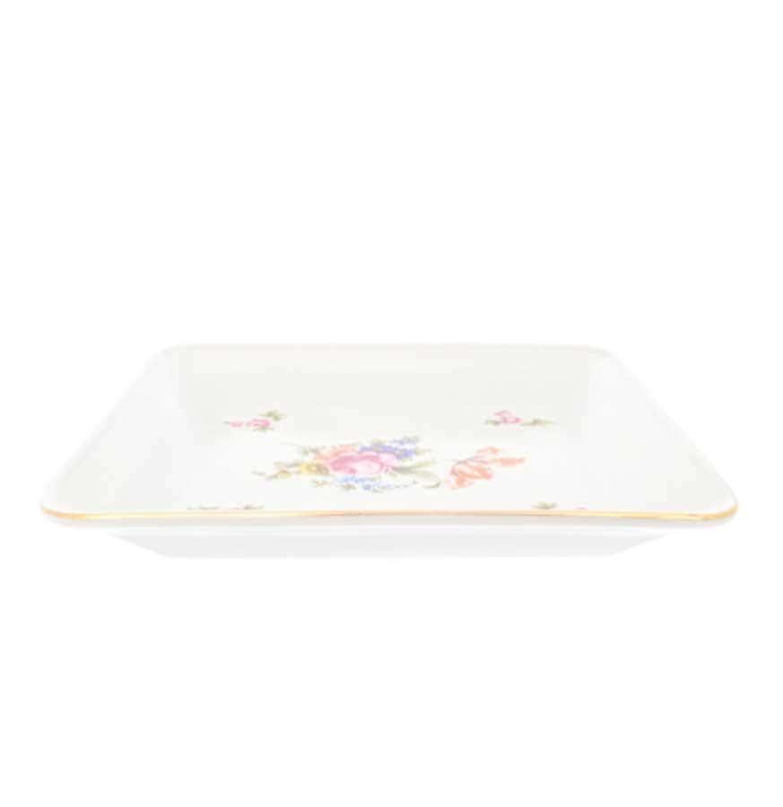 Блюдо квадратное Dubi Цветочный мотив 18 см