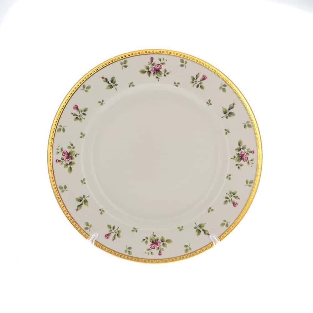 Блюдо круглое Falkenporzellan Constanza cream - Primavera Gold 32 см