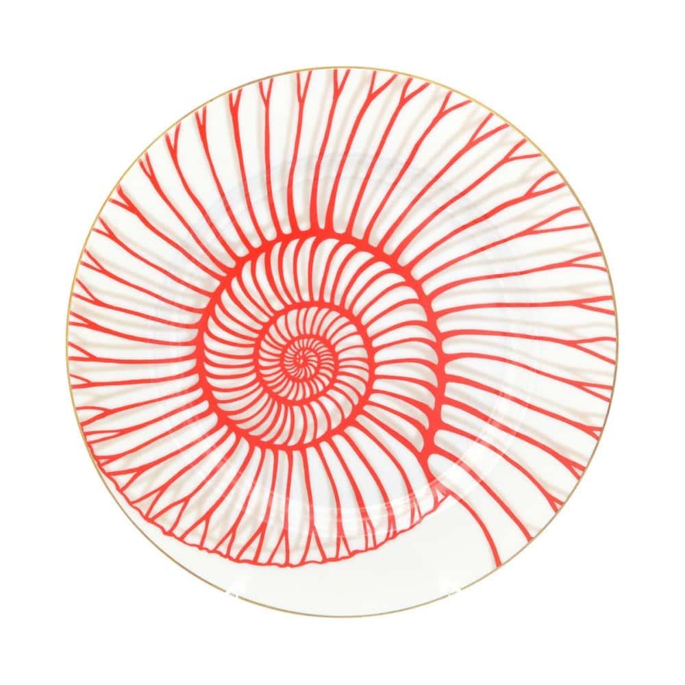 Блюдо круглое Falkenporzellan Corallo Red Gold 32 см