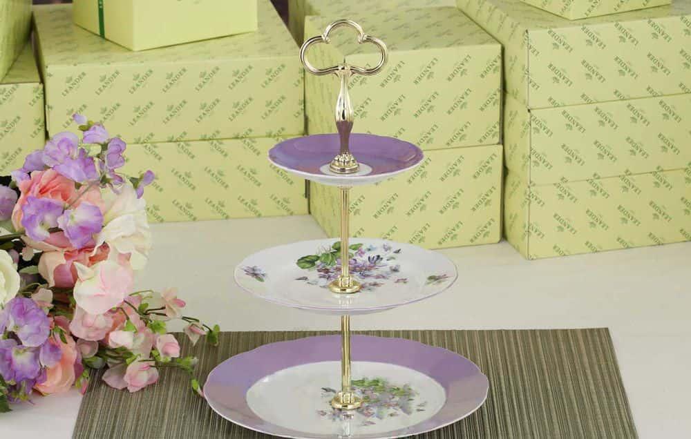 Этажерка для фруктов 30 см Мэри-Энн Лиловые цветы Леандер 2391