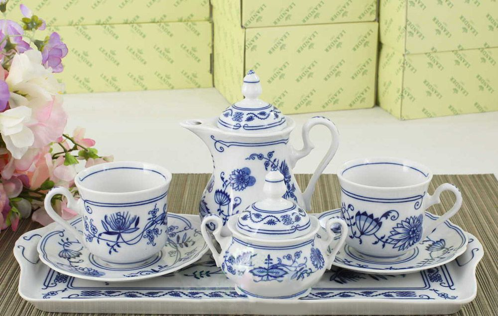 Подарочный набор кофейный Тет-а-тет Мэри-Энн Гжель Леандер 0055