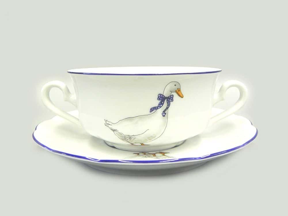 Чашка для супа с блюдцем 350 мл Мэри-Энн Гуси Леандер 0807