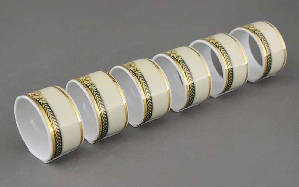 Набор колец для салфеток Сабина Фрукты на зеленой ленте Леандер 0711