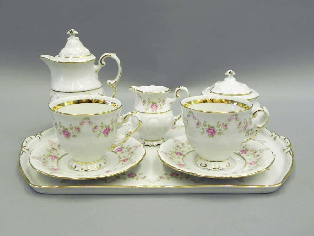 Подарочный набор кофейный мокко Тет-а-тет Соната Мелкие цветы Леандер 0158