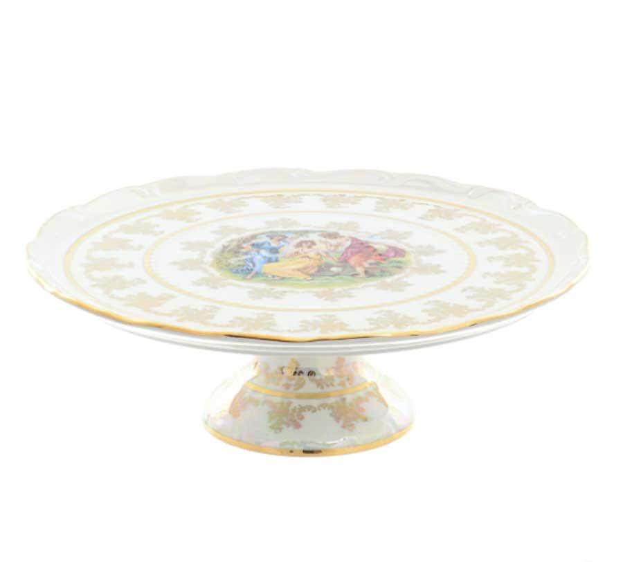 Тарелка для торта 32 см Фредерика Мадонна Перламутр Moravec