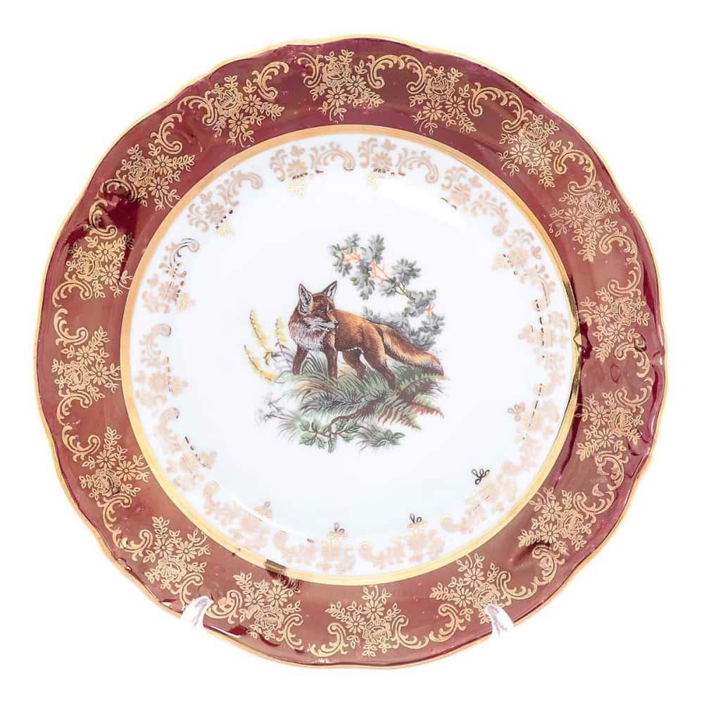 Набор тарелок Moravec Фредерика Охота красная 21 см(6 шт)