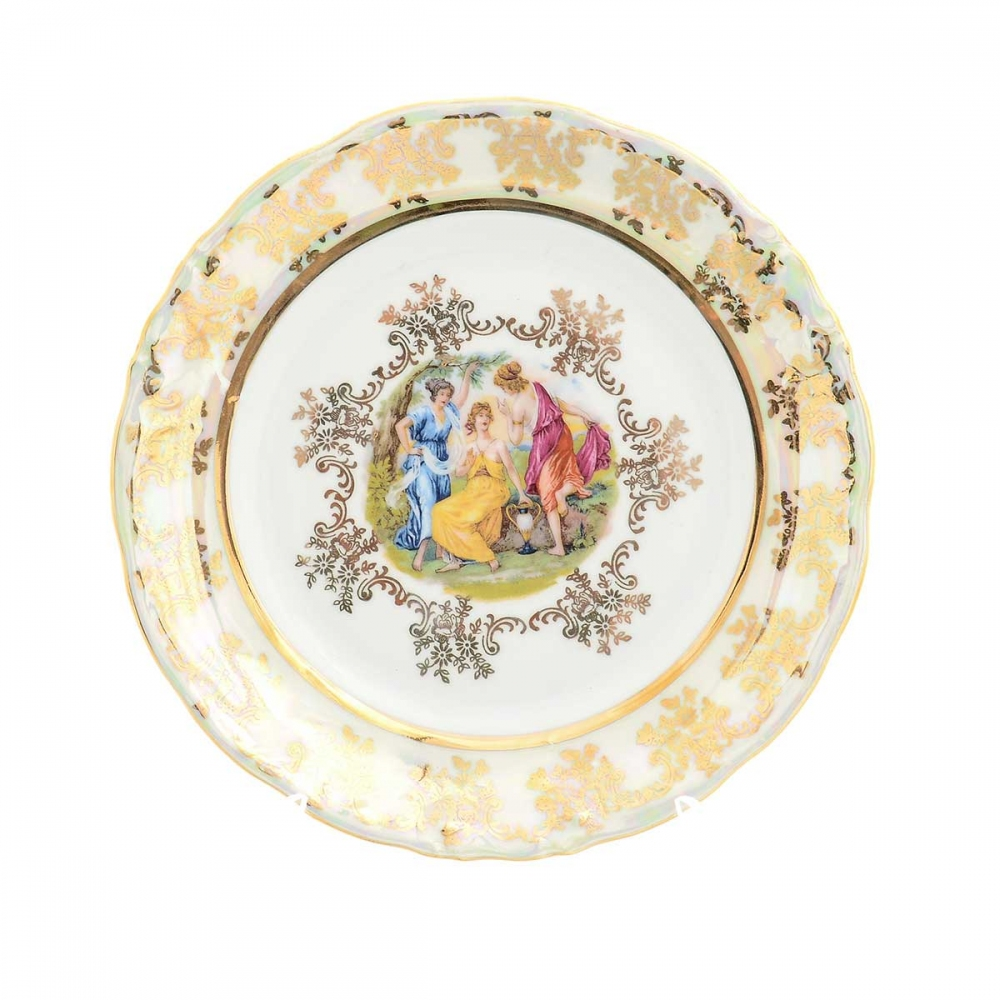 Набор тарелок Moravec Фредерика Мадонна Перламутр 17 см (6 шт)
