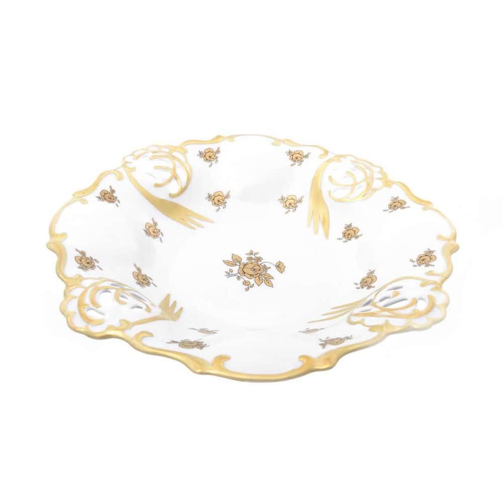 Фруктовница (Барбарина) Queens Crown Золотая роза 26 см