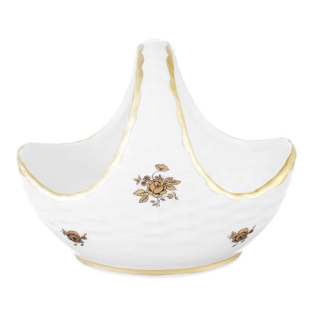 Корзинка Queens Crown Золотая роза 17 см