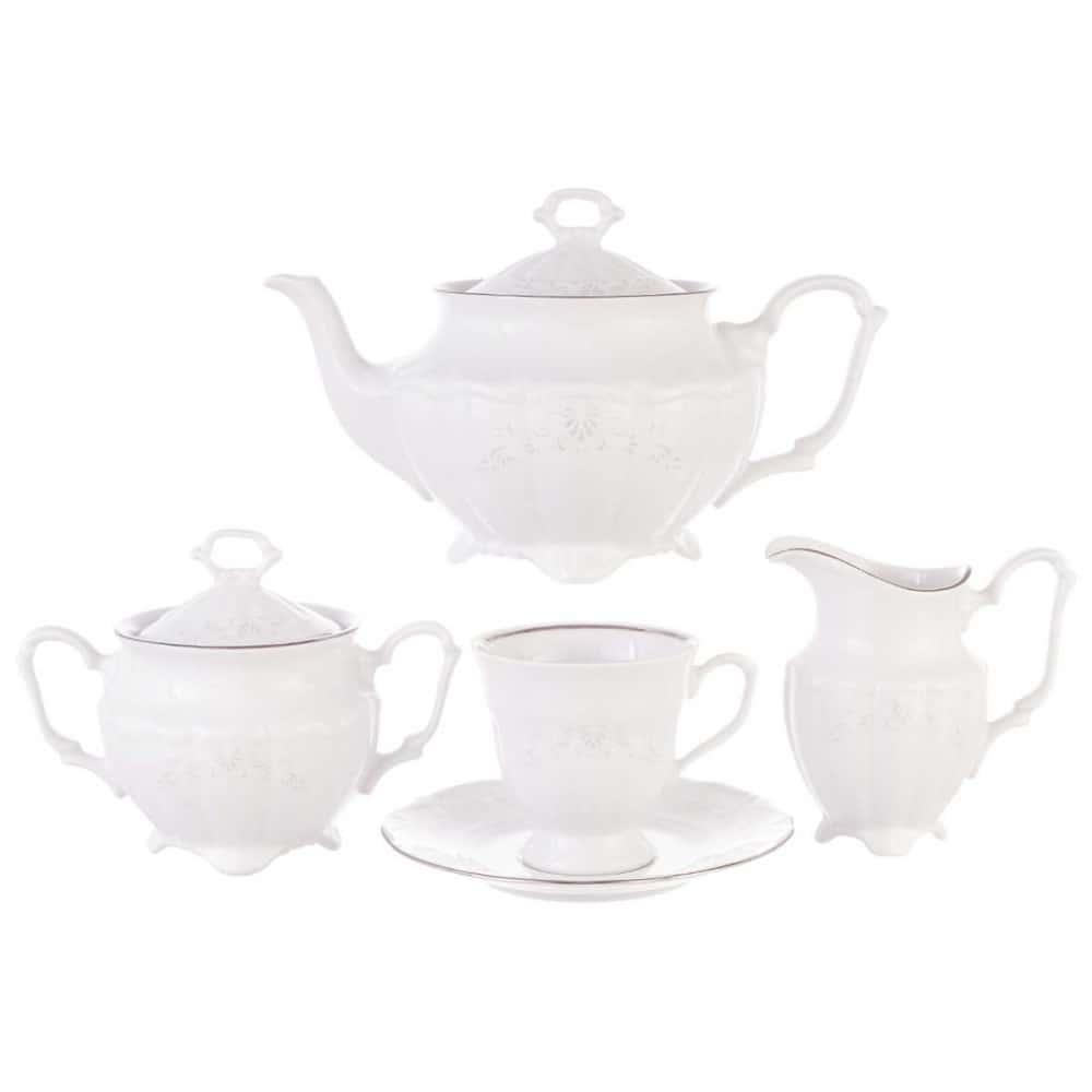Чайный набор Свадебный узор Repast (15 предметов на 6 персон)