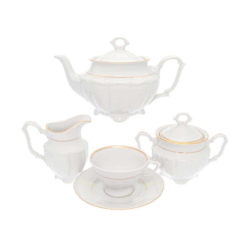 Чайный набор Классика Repast классическая чашка (15 предметов на 6 персон)