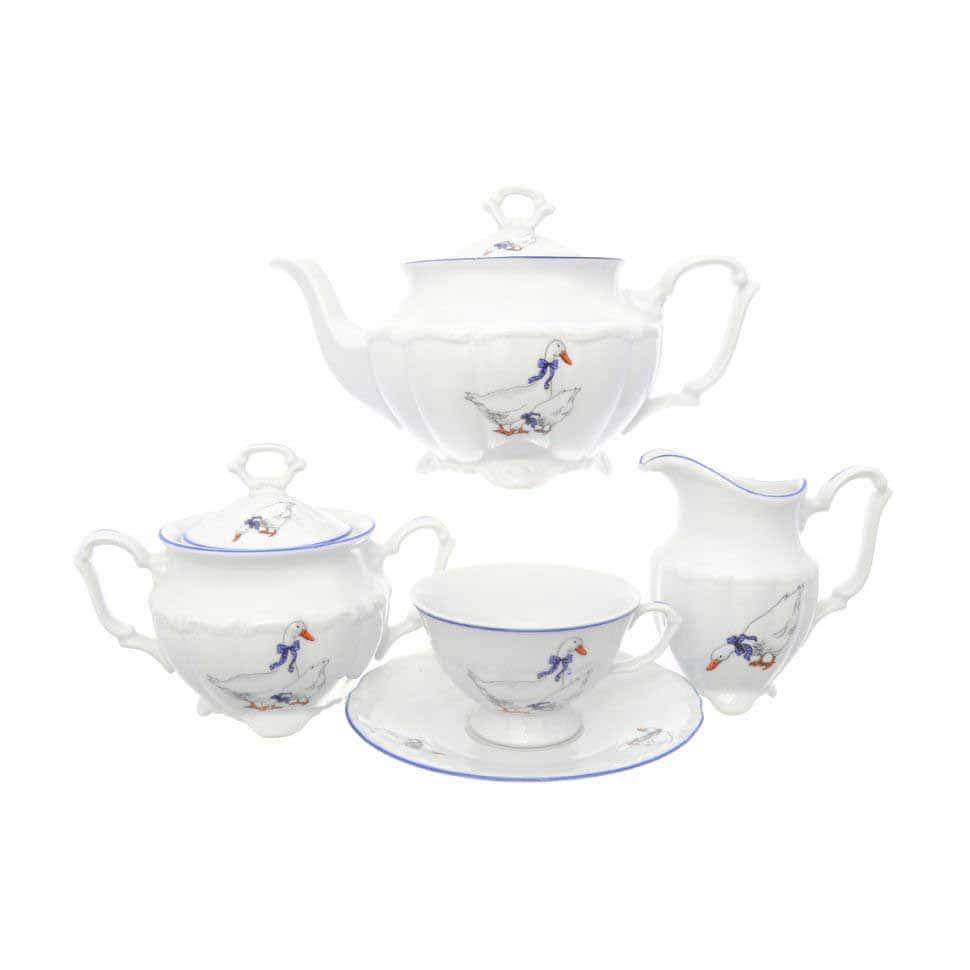 Чайный набор Гусики Repast классическая чашка (15 предметов на 6 перс.)