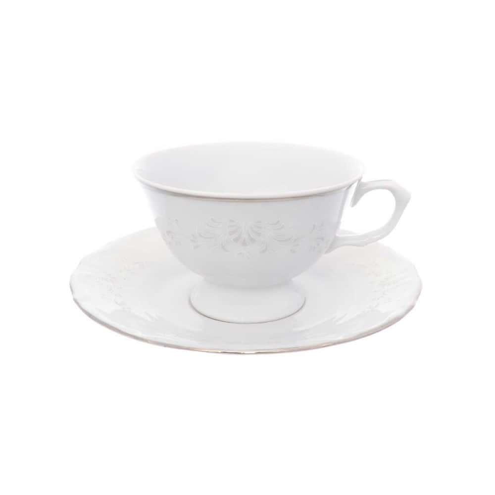 Набор чайных пар Repast Свадебный узор классическая чашка (6 пар) 200 мл