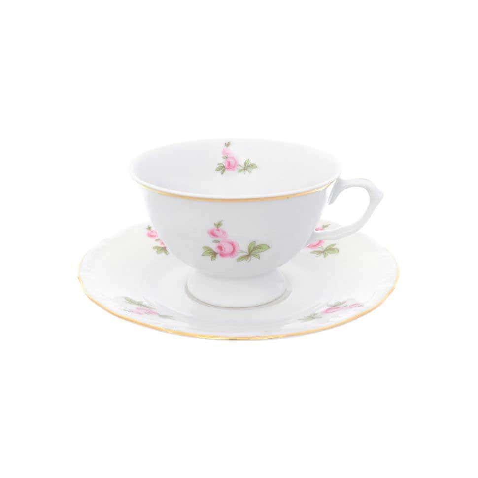 Набор чайных пар Repast Мейсенский букет классическая чашка (6 пар) 200 мл
