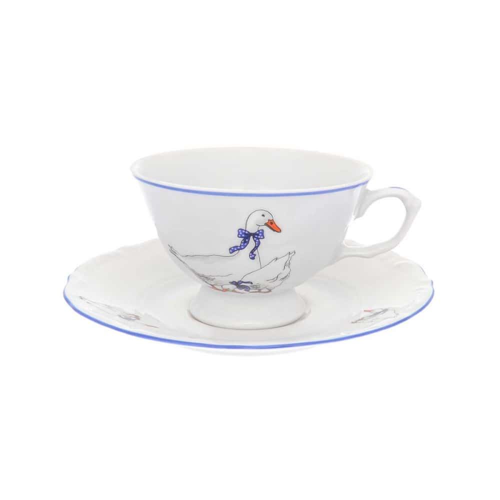 Набор чайных пар Repast Гусики классическая чашка (6 пар) 200 мл