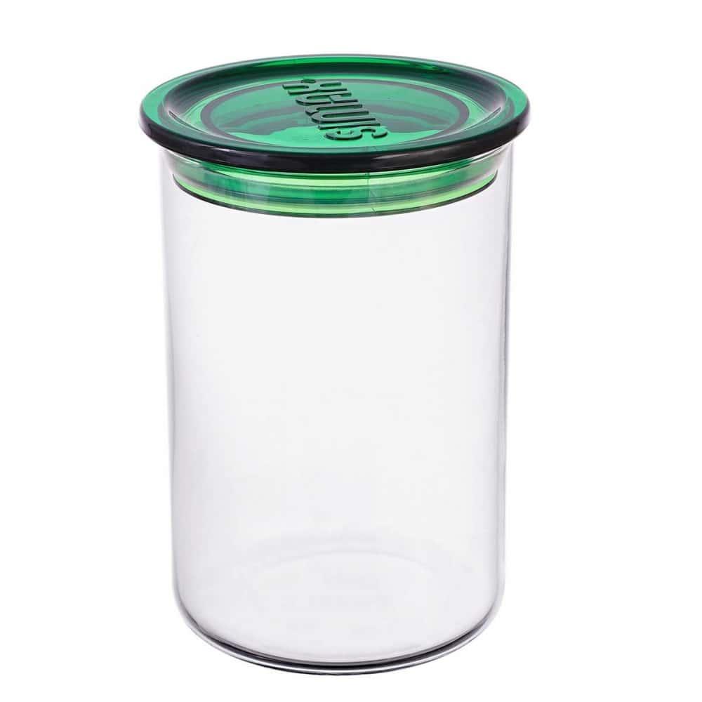 Банка для сыпучих продуктов с зеленой крышкой Simax 0.8 л