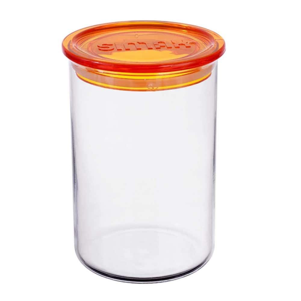 Банка для сыпучих продуктов с оранжевой крышкой Simax 0.8 л