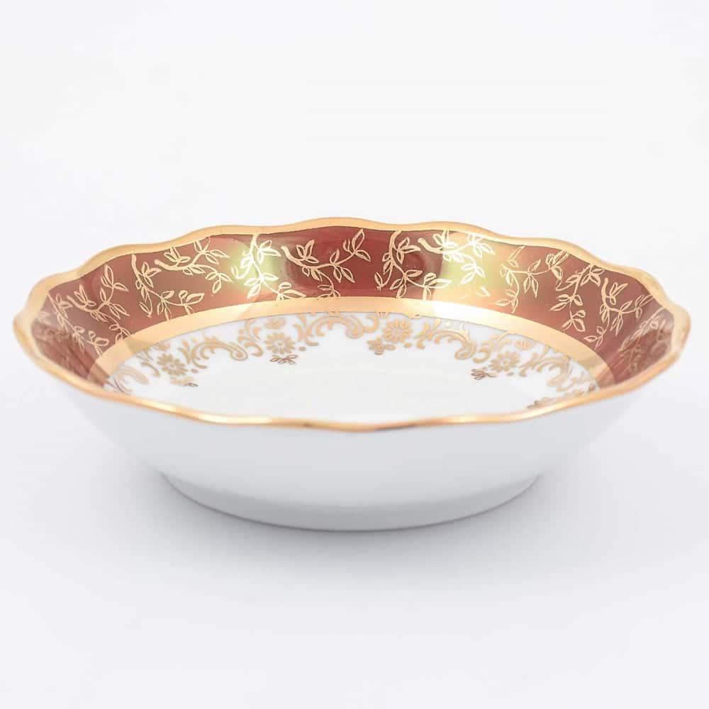 Набор салатников Sterne porcelan Красный лист 13 см(6 шт)