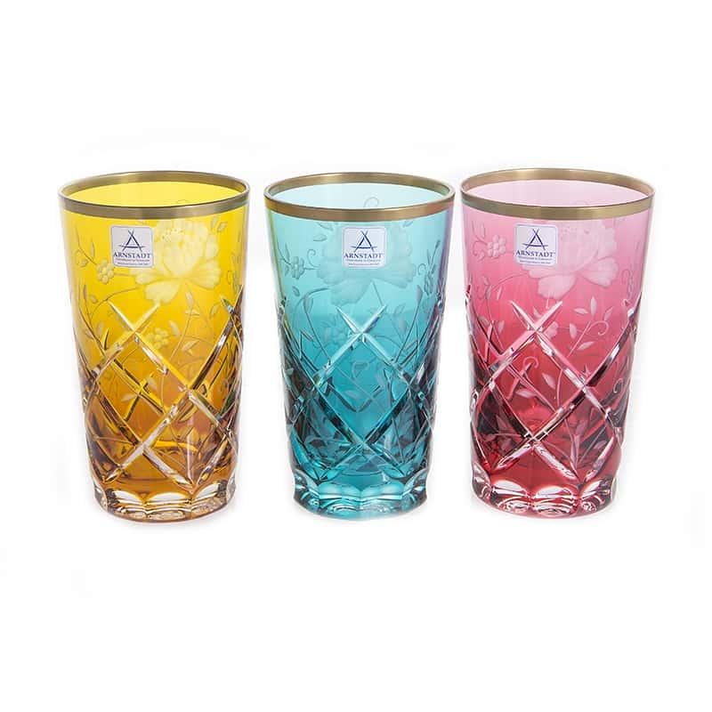 Набор стаканов 360мл.6шт. Роза Голд Колорс Arnstadt Kristall