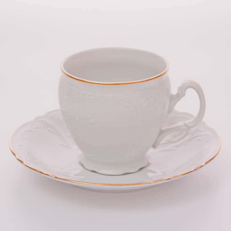 Набор для кофе 90мл. Бернадот белый 311011 Bernadotte на 6перс.12пред.