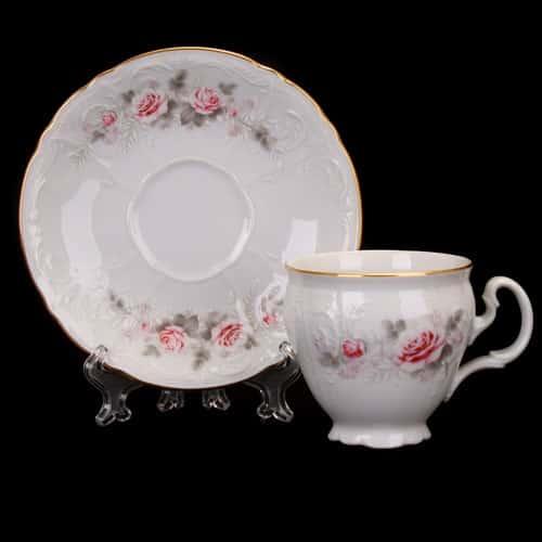Пара для кофе 170мл.2пред. Роза серая 5396011 Bernadotte