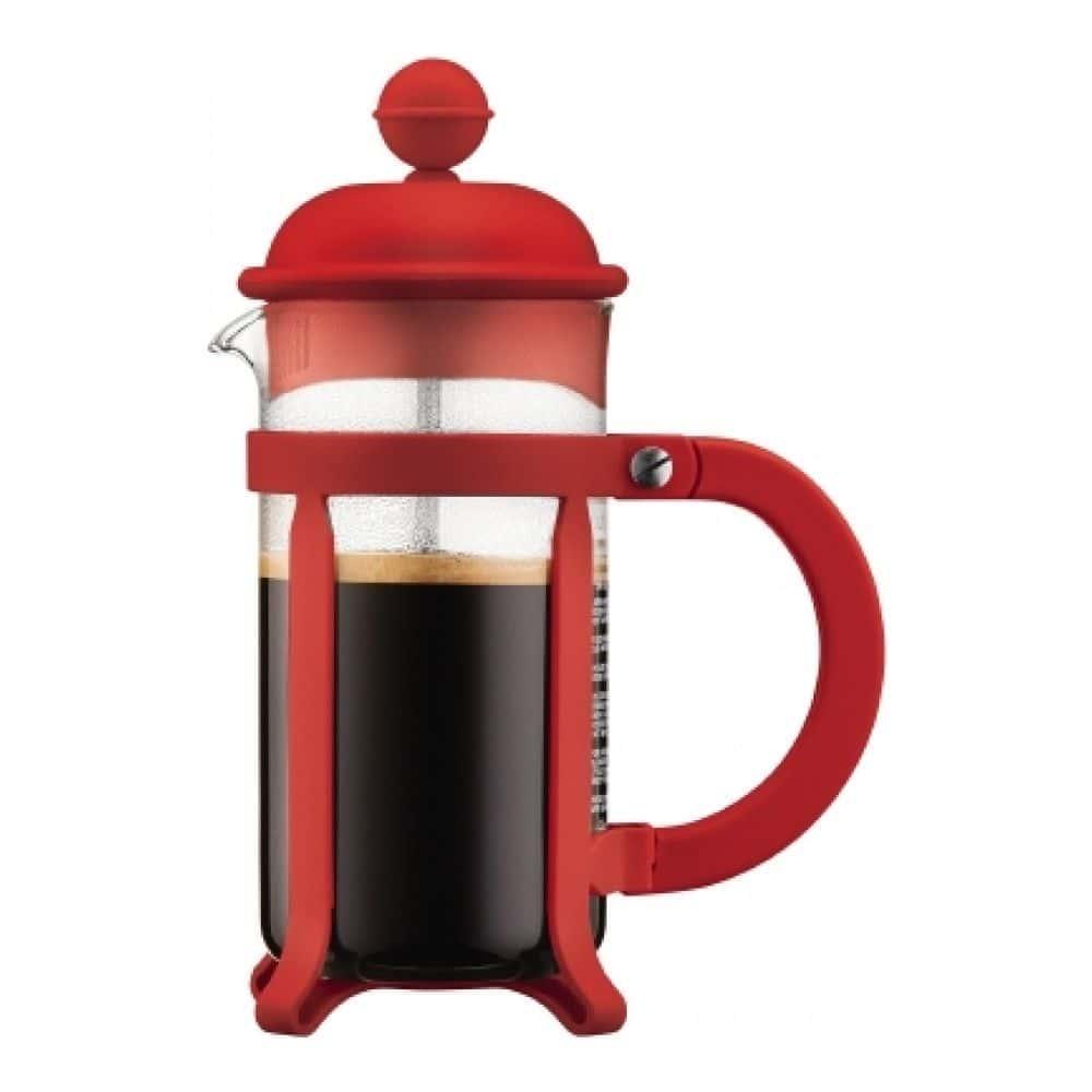 Кофейник френч-пресс Bodum Java, 0.35 л, цвет красный
