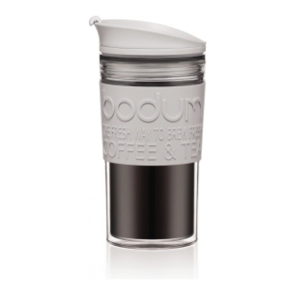 Термокружка дорожная Bodum Travel Clip из поликарбоната, 0.35 л, цвет тени