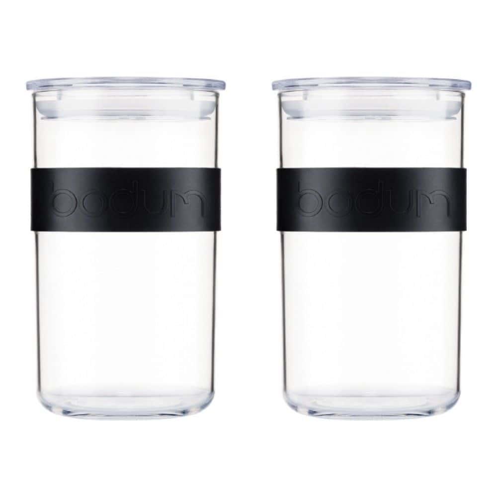 Набор банок для хранения Bodum Presso из поликарбоната 2 шт., 1 л, цвет черный