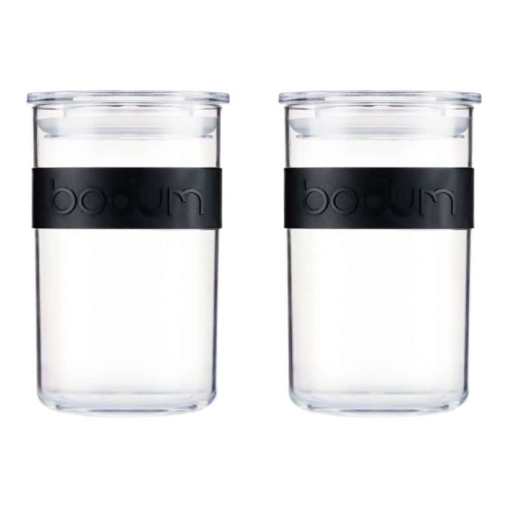 Набор банок для хранения Bodum Presso из поликарбоната 2 шт., 0.6 л, цвет черный