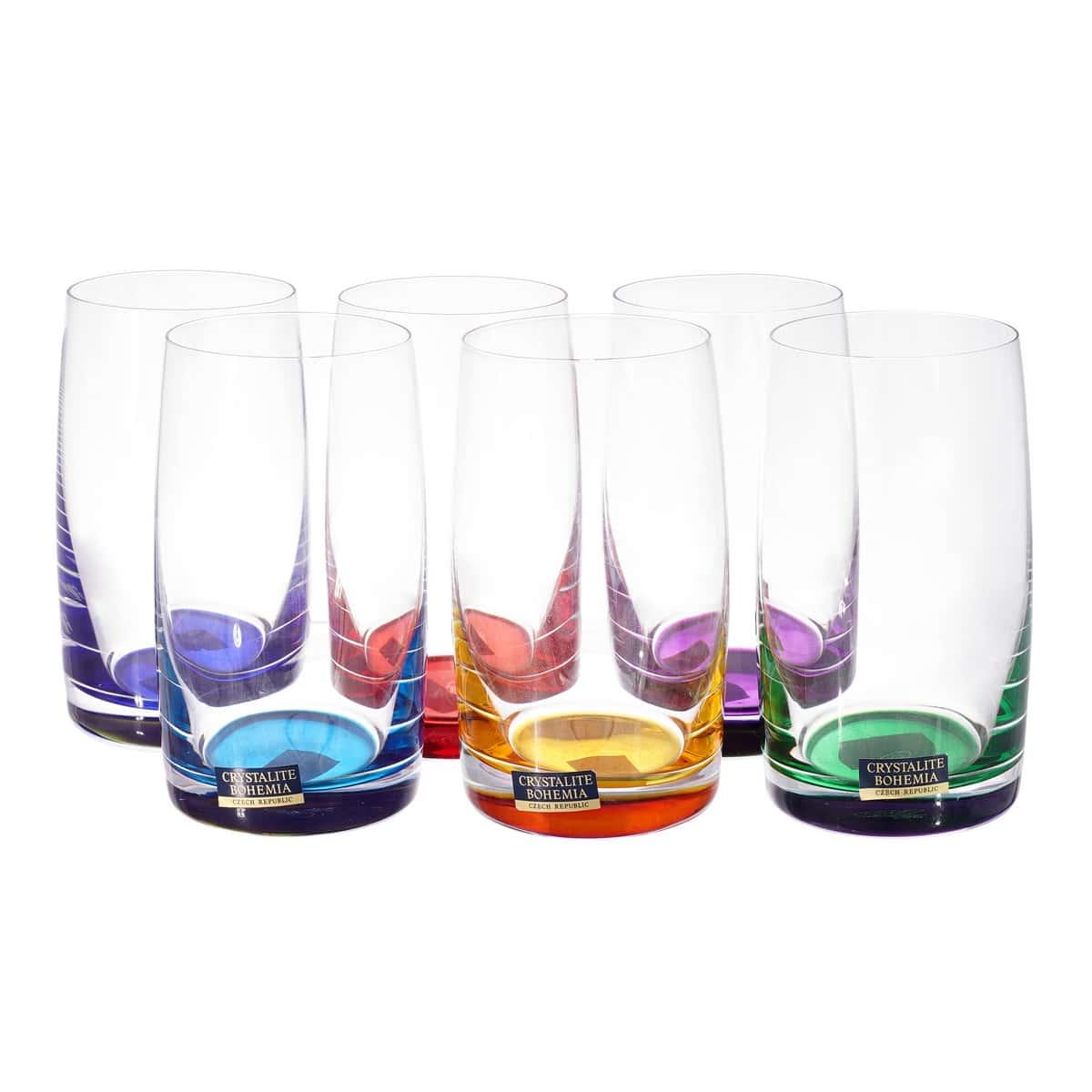 Идеал колорс Набор стаканов для виски Crystalite 250 мл
