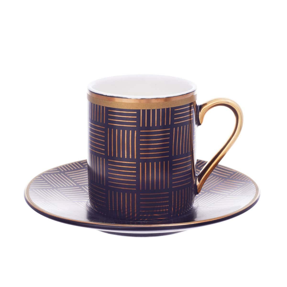 Набор для кофе 100мл. на 6перс.12пред.Ассорти Голд Paci