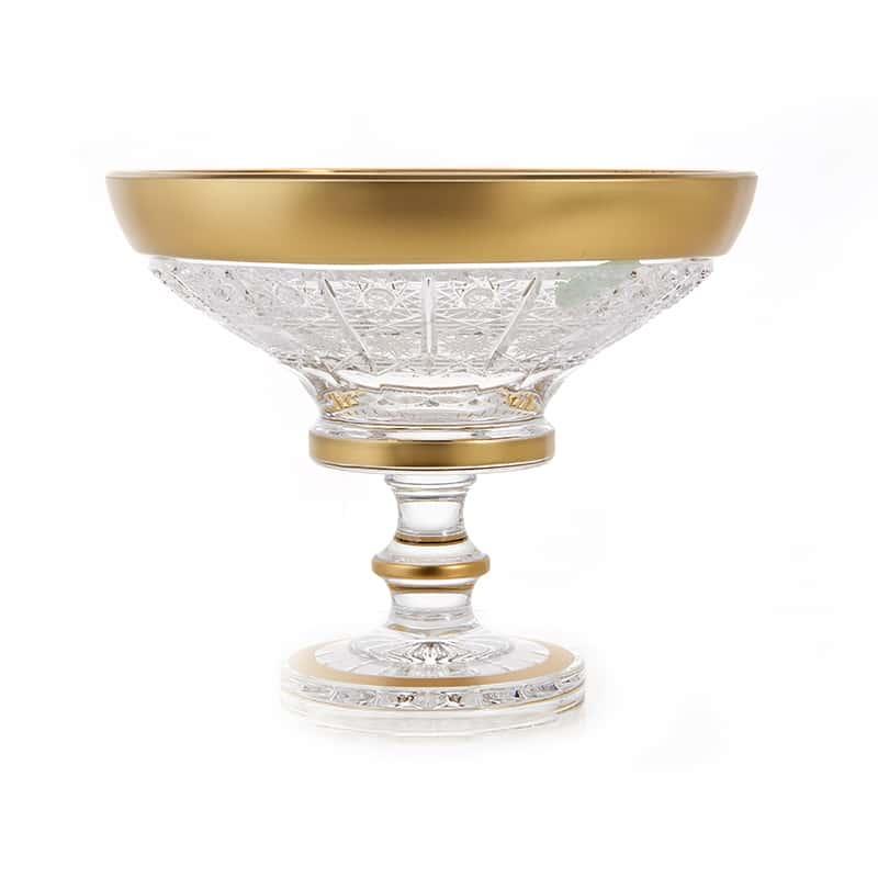 Ваза для конфет н/н 15,5 см. Cнежинка с золотом 60550 Mclassic