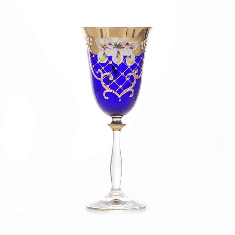 Бокал 260мл.1шт. Лепка синяя Union Glass