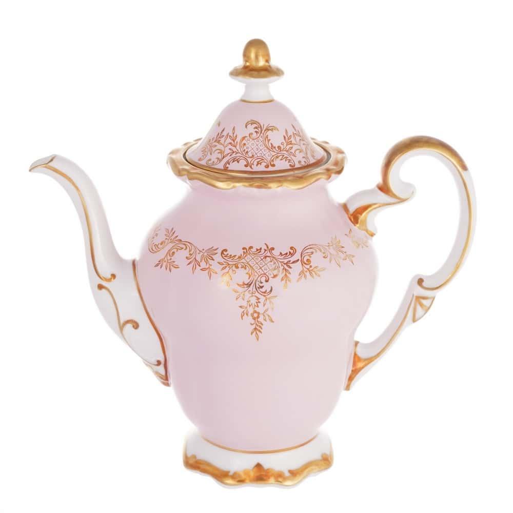 Кофейник 1,3л. Ювел розовый Weimar Porzellan