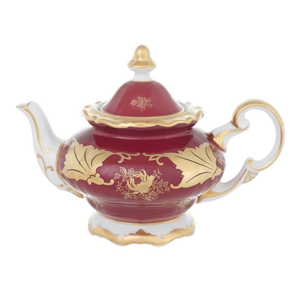 Чайник заварочный 0,60л. Кленовый лист красный Weimar Porzellan