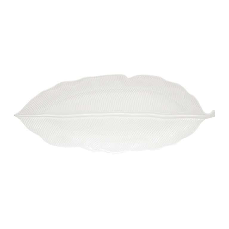 Блюдо-листок сервировочное белое 39см.Мадагаскар Easy Life