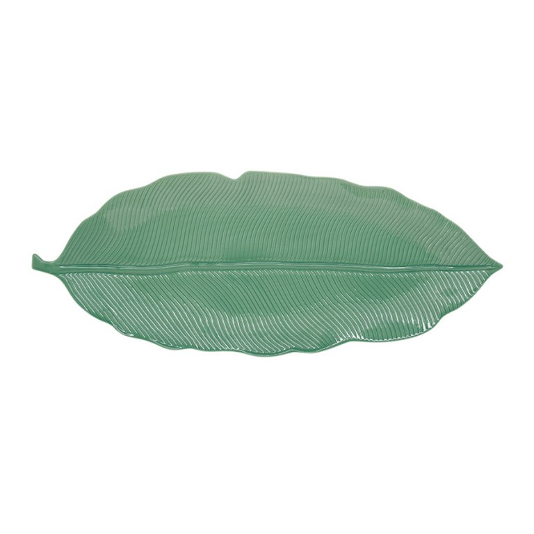 Блюдо-листок сервировочное светло-зеленое 39см. Мадагаскар EasyLife