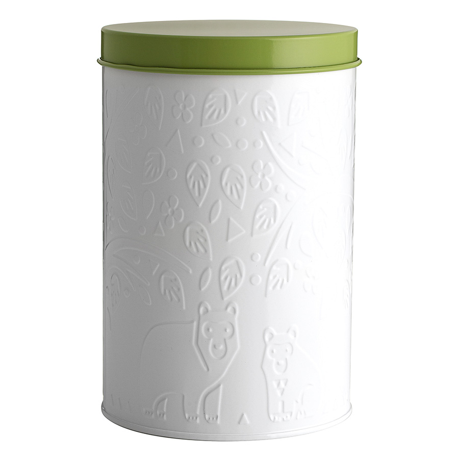 Емкость для хранения In The Forest Mason Cash 2,9 л бело-зеленая