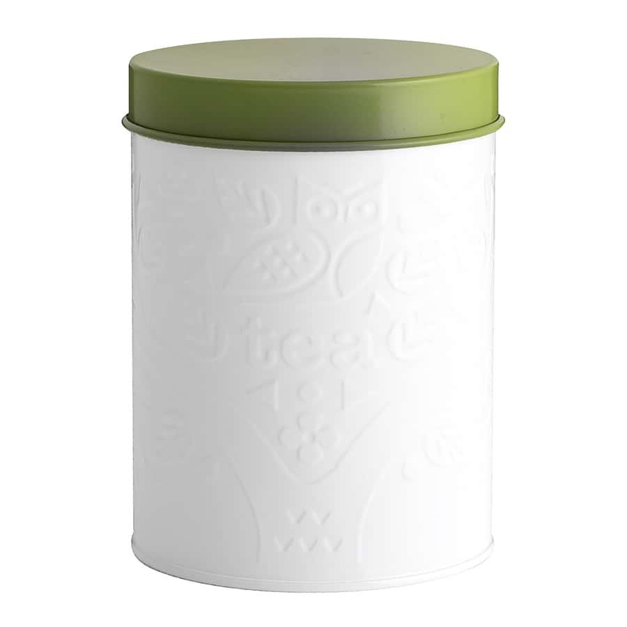 Емкость для хранения чая In The Forest бело-зеленая