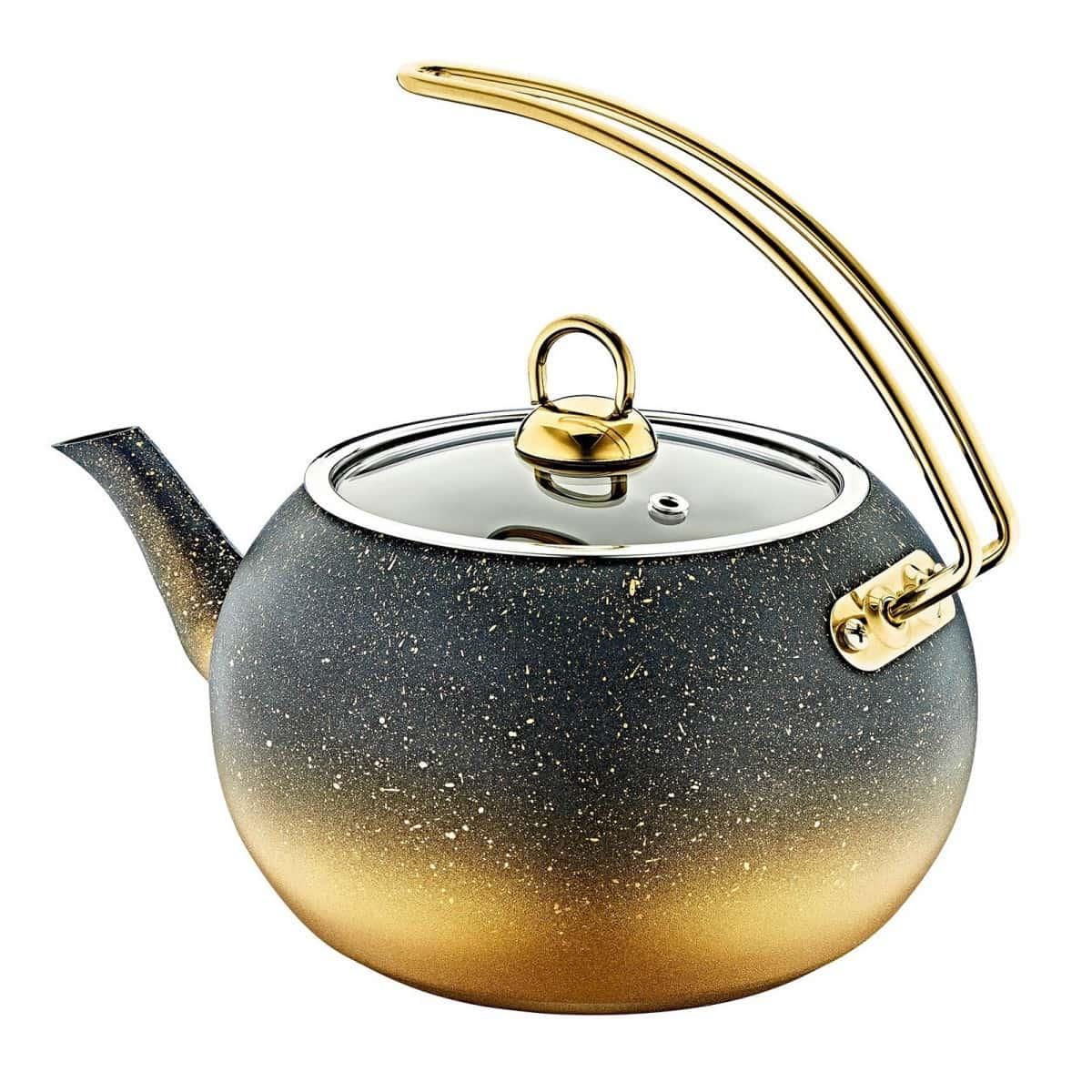 Чайник с а/п покрытием 2 л, цв.черн./золотой O.M.S.