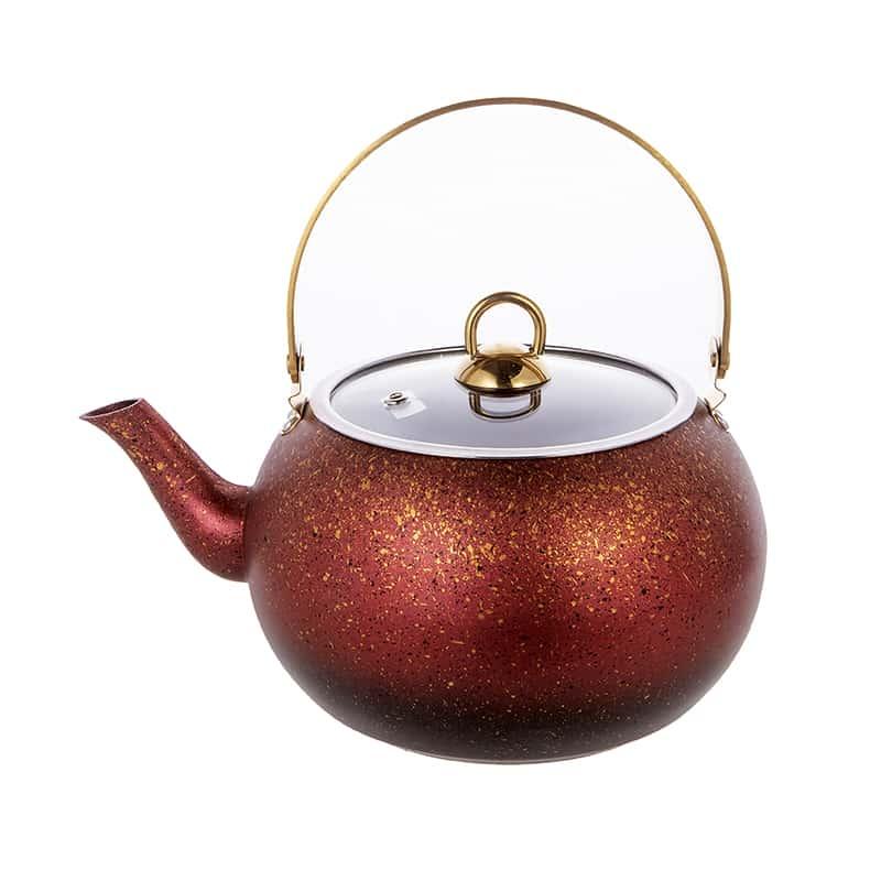 Чайник с а/п покрытием 3 л./красный O.M.S.